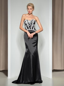Ericdress Sweetheart Appliques Sequins Long Evening Dress