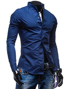 Ericdress Solid Color Casual Men's Shirt