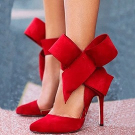 Fashion Stiletto Platform High Heel Sandals with Big Bowknot