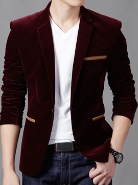Ericdress Plain Corduroy Loose Men's Coat