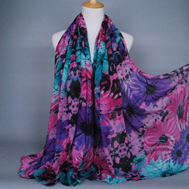 Euramerican Style Color Decoration Voile Scarf