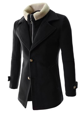 Ericdress Patched Double-Layer Detachable Warm Coat