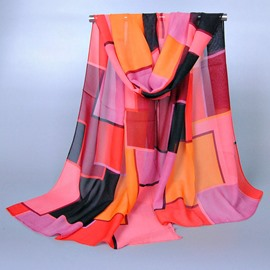 Vogue Color Matching Chiffon Scarf
