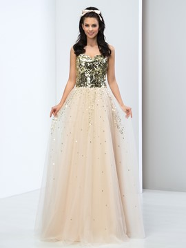 Ericdress Sweetheart Floor-Length Sequins Long Prom Dress