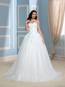 Ericdress Charming Sweetheart Flowers Court Train Wedding Dress