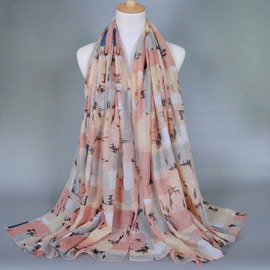 Colors Contrast Voile Trendy Scarf