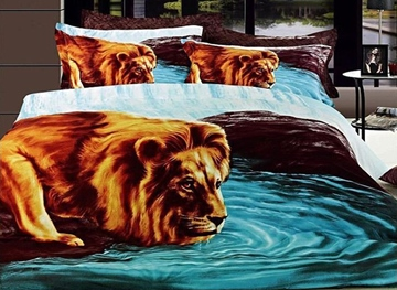 Ericdress King of Wind Mighty Lion Print 3D Bedding Sets