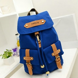 Ericdress Vogue Double Pocket Canvas Backpack