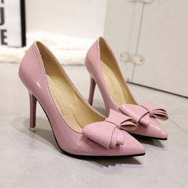 Ericdress Solid Color Pumps with Bowtie