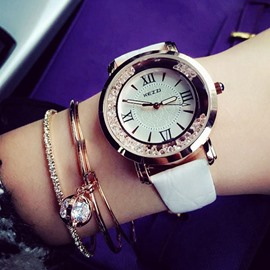 Retro Style White Leather Strap Watch