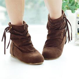 Ericdress Amazing Suede Ankle Boots with Tassels