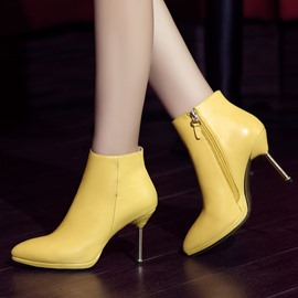 Ericdress Graceful Side Zipper High-heel Boots