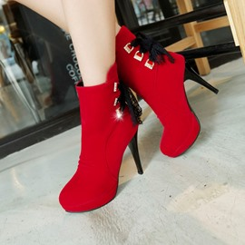 Ericdress Lace Tassels High-heel Boots