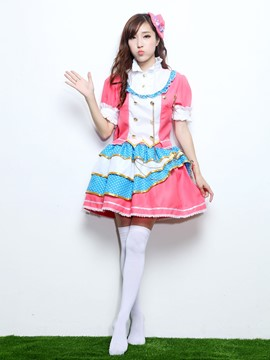 Ericdress Patchwork Sweet Maid Costume