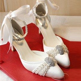 Ericdress Popular Pointed-toe Ankle Strap Wedding Shoes
