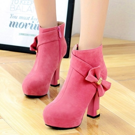 Ericdress Sweet Bowtie High Heel Boots
