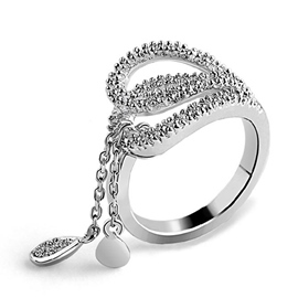 Unique Half Heart Shaped Ring