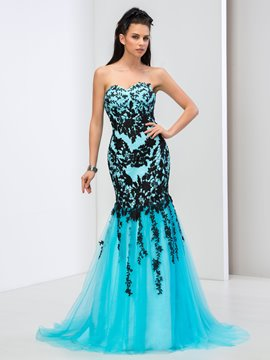 Ericdress Sweetheart Appliques Mermaid Long Prom Dress