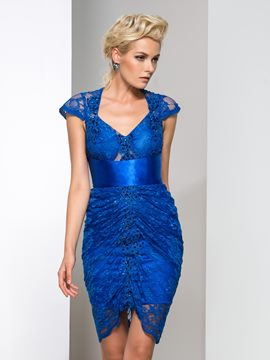 Ericdress Cap Sleeve Lace Sequins Cocktail Dress