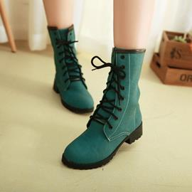 Ericdress Bright Lace-up Ankle Boots