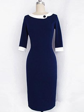 Ericdress Vintage Half Sleeve Sheath Dress