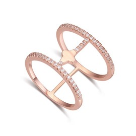 Concise Decoration Rose Gold Ring