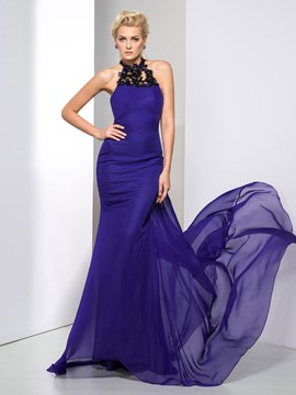 Ericdress Halter Appliques Sequins Sheath Evening Dress