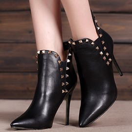 Ericdress High-quality Rivets Decoration High-heel Boots