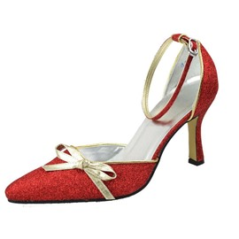 Ericdress Red Bowtie Decoration Wedding Shoes