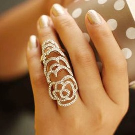 Rose Shaped Hollow-out Ring