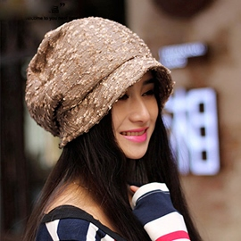 Concise Soft Cotton-nylon Female Hat