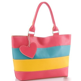 Ericdress Leisure Color Block Heart Shape Tote Bag