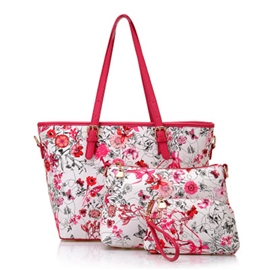 Ericdress Floral Print Tote Bags(3 Bags)