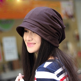 Concise Decoration Female Beret Hat