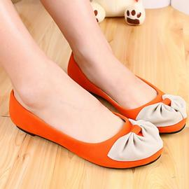 Ericdress Sweet Candy Color Flats with Bowtie