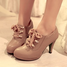 Ericdress New Graceful Lace-up High Heel Boots