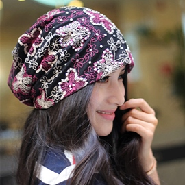 High Quality Flower Decorated Female Hat
