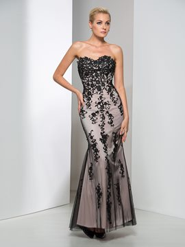 Ericdress Sweetheart Appliques Sheath Long Evening Dress