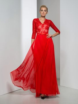 Ericdress A-Line Half Sleeve Lace Evening Dress