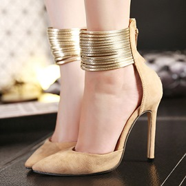 Ericdress Princess Metal Chain Pointed-toe Stiletto Sandals