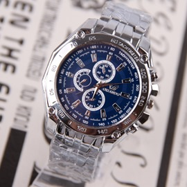Ericdress Lastest Steel Belt Chronograph Watch For Men