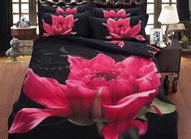 Ericdress Flower Blossom Print 5 Piece Bedding Sets