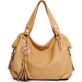 Ericdress Solid Color Tassel Tote Bag