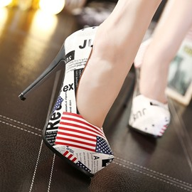 Ericdress Simple Flag Patchwork Pumps