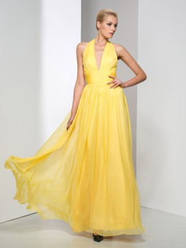 Ericdress Concise Halter A-Line Long Evening Dress