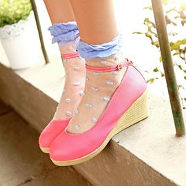 Ericdress Sweet Candy Color Wedges
