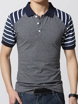 Ericdress Short Sleeve Striped Men's T-Shirt