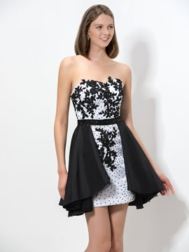 Ericdress Appliques Beaded Short Homecoming Dress