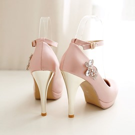 Ericdress Rhinestone Ankle Strap Pumps