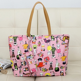 Ericdress Trendy Animation Print Tote Bag